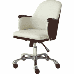 Jual San Francisco Office Chair Walnut & Cream Faux Leather PC712