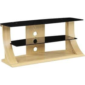 Jual Florence JF201 OB 1100 Oak Black Glass TV Stand