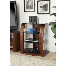 Jual Melbourne JF313 H-Fi Stand Walnut Black Glass