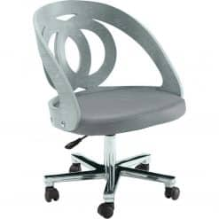 Jual Helsinki PC606 Grey Office Chair Grey Real Leather