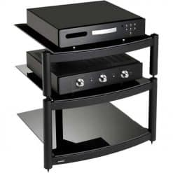 Atacama Equinox Hi-Fi Stand 3 Shelf Unit Black