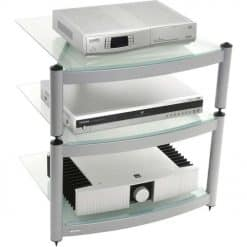 Atacama Equinox Hi-Fi Stand 3 Shelf Unit Silver