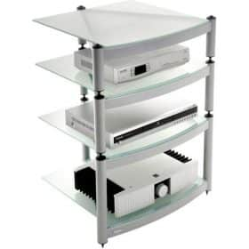Atacama Equinox Hi-Fi Stand 4 Shelf Unit Silver