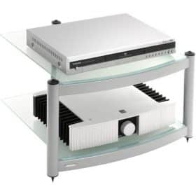 Atacama Equinox Hi-Fi Stand 2 Shelf Unit Silver