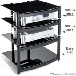 Atacama Equinox Hi-Fi Stand 2 Shelf Unit Black