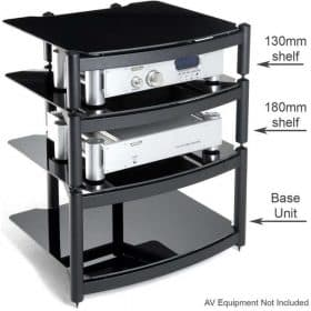 Atacama Equinox Xl Pro Se Stand 130mm Shelf Black