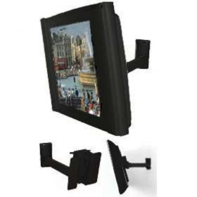 B-Tech BT7512 Small LCD SWivel Wall Mount With Tilt Piano Black BT 7512 BT 7512