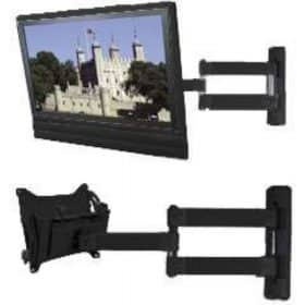 B-Tech BT7535 Flat Screen Wall Mount Double Arm Extension Piano Black BT 7535 BT 7535