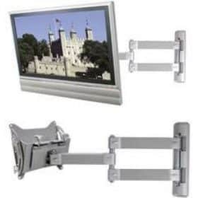 B-Tech BT7535 Flat Screen Wall Mount Double Arm Extension Silver