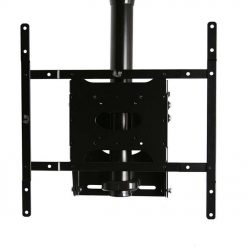 B-Tech BT8426 Adjustable Drop Flat Screen Ceiling Mount Black / Silver