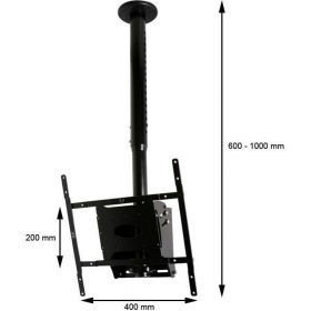 B-Tech BT8426 Adjustable Drop Flat Screen Ceiling Mount Black Sliver BT 8426 BT 8426 1 2