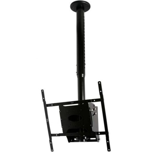 B-Tech BT8426 Adjustable Drop Flat Screen Ceiling Mount Black Sliver BT 8426 BT 8426 1 3