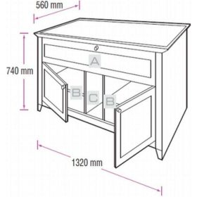 BDi Novia 8428 Natural Stained Cherry Home Theatre Cabinet 8428 Nc 8428 Nc