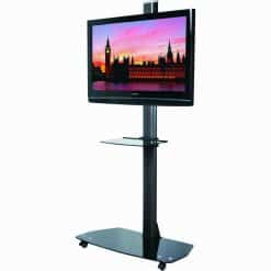 B-Tech BT8505 Black TV Flat Screen Display Trolley Glass Base
