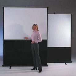Chaseav 201460 Leader Portable Floor Projector Screen 1 1 Square 150 X 150cm