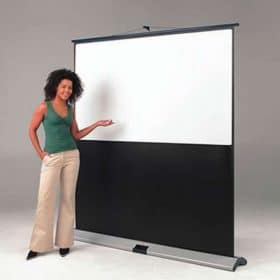 Chaseav 201463 Movielux Portable Floor Projector Screen 4 3 Video 90 X 120cm 4