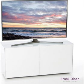 Frank Olsen Furniture INTEL1100WHT High Gloss White 1100 TV Unit Cabinet