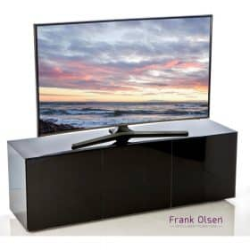 Frank Olsen Furniture INTEL1500BLK High Gloss Black 1500 TV Unit Cabinet