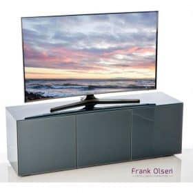 Frank Olsen Furniture INTEL1500GRY High Gloss Grey 1500 TV Unit Cabinet