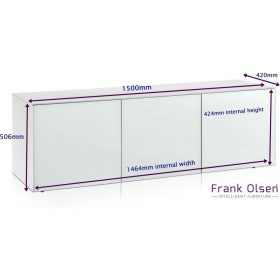 Frank Olsen Intel1500wht Large White Ext Dims 2