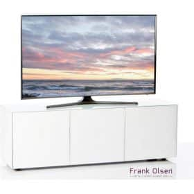 Frank Olsen Furniture INTEL1500WHT High Gloss White 1500 TV Unit Cabinet