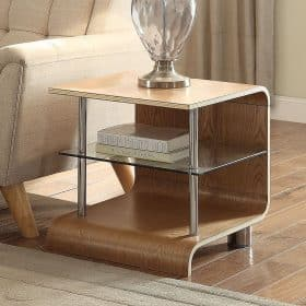 Jual Bali BS204 Lamp Table Ash Clear Glass