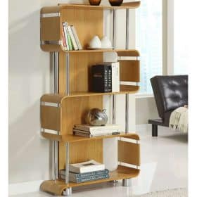 Jual Curve Bs201 Bs Oak Wood Wooden Bookshelf Oak Bs 201 Bs Oak Bs 201 Bs Oak 1 1