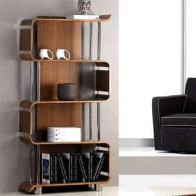 Jual Curve Bs201 Bs Wal Wood Wooden Bookshelf Walnut Bs 201 Bs Wal Bs 201 Bs Wal 1 2