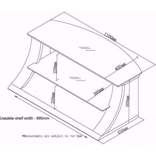Dimensions Technical Drawing For Jual JF201 1100