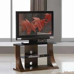 Jual Florence JF201 WB 1100 Curve Wood / Walnut TV Stand
