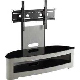 Jual Florence JF209 Cantilever TV Stand Grey Ash Black Glass