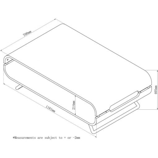 Dimensions Technical Drawing For Jual JF302 Coffee Table