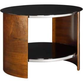 Jual San Marino JF303 WB Curve Walnut and Black Round Lamp Table