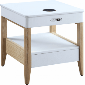 Jual JF401 San Francisco Bedside / Lamp Table White Oak & Oak