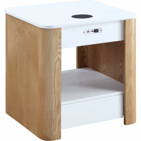 Jual JF403 San Francisco Bedside / Lamp Table White Oak & Oak