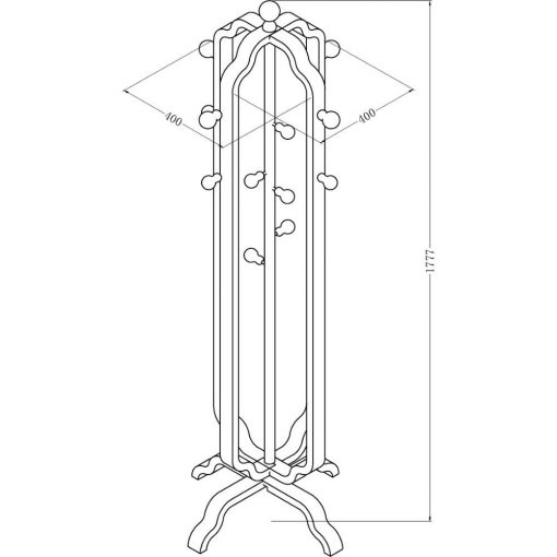 Dimensions Technical Drawing For Jual JF505 Coat Stand