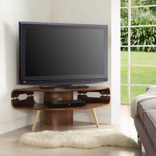 Lifestyle Home Setting Images For Jual JF701 Large Corner TV Stand