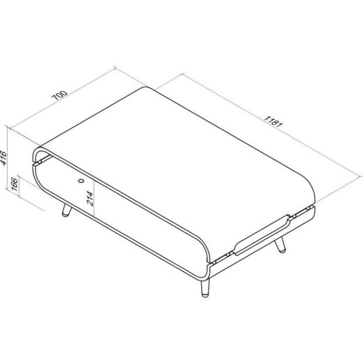 Dimensions Technical Drawing For Jual JF703 Coffee Table
