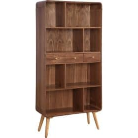 Jual Havana JF707 Wide Bookshelves Walnut