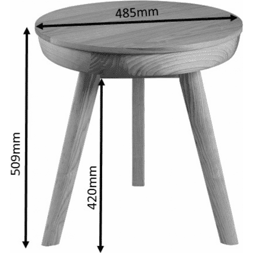 Dimensions Technical Drawing For Jual JF710 San Francisco Smart Lamp Table Ash
