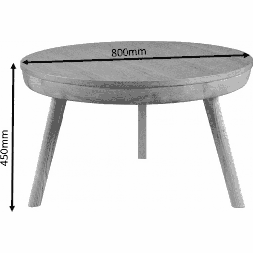Dimensions Technical Drawing For Jual JF712 San Francisco Coffee Table Ash