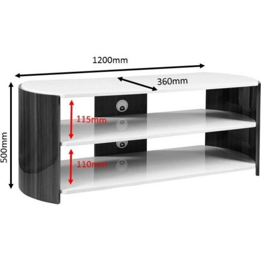 Dimensions Technical Drawing For Jual JF901 Milan TV Stand 1200mm Walnut And Cream