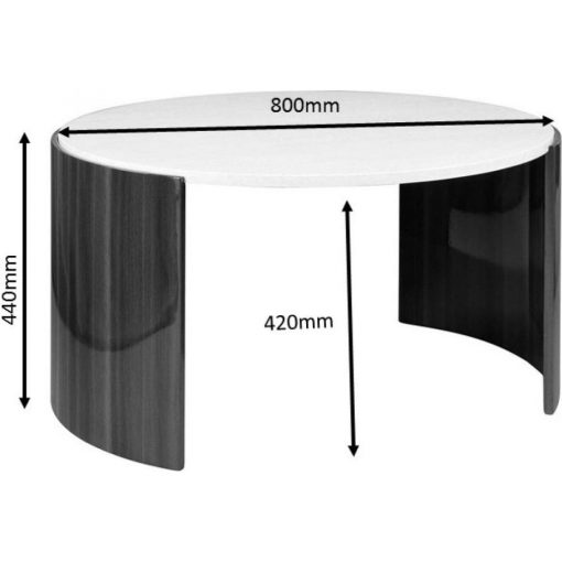 Dimensions Technical Drawing For Jual JF902 Milan Coffee Table Walnut And Cream