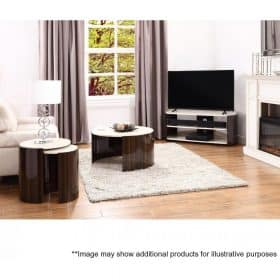 Lifestyle Home Setting Images For Jual JF902 Milan Coffee Table Walnut And Cream