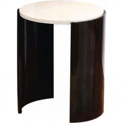 Jual JF904 Milan Small Lamp Table Walnut and Cream