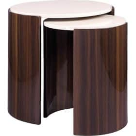 Jual JF905 Milan Nest of Tables Walnut and Cream