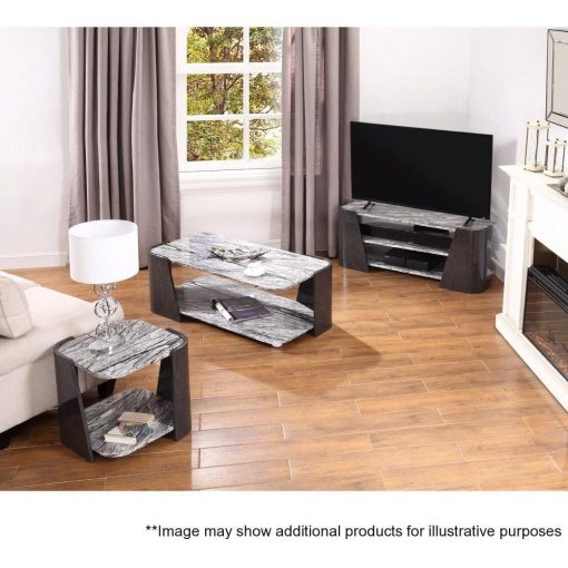 Lifestyle Home Setting Images For Jual JF907 Sorrento Coffee Table High Gloss Grey Slate Marble Effect