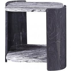 Jual JF908 Sorrento Lamp Table High Gloss Grey Slate & Marble Effect