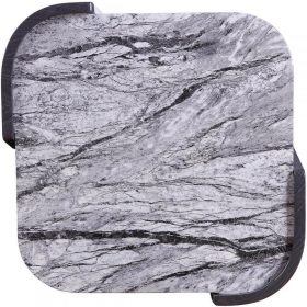 Additional Images For Jual JF908 Sorrento Lamp Table High Gloss Grey Slate Marble Effect