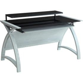 Jual Helsinki PC201 1300mm Desk Grey Ash Black Glass